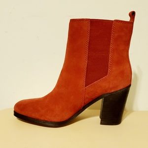 Splendid Newbury Ankle Boot Red Suede Size 8